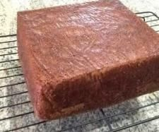 Julie's chocolate mud cake 250 g butter  200 g dark chocolate  400 g sugar  300 g water  1 teaspoon instant coffee  110 g plain four  110 g SR flour  20 g cocoa  3 --- eggs