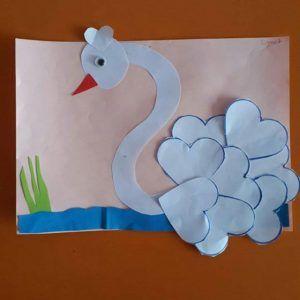 heart swan craft idea (2)