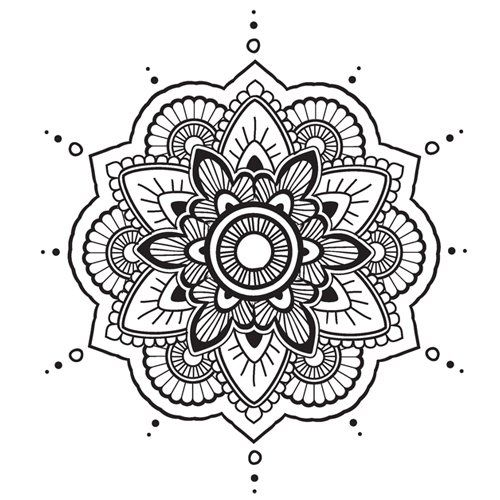 Mandala n°17 en coloriage à imprimer