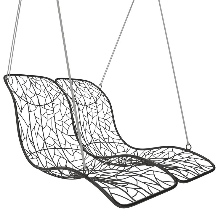 Buy Double Recliner Hanging Chair by Studio Stirling - Made-to-Order designer Furniture from Dering Hall's collection of Contemporary Industrial Mid-Century / Modern Organic Lounge Chairs.