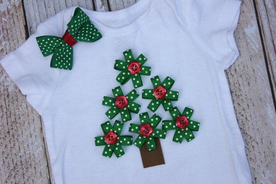 Baby Girl Christmas Tree Outfit with Tutu For Embean