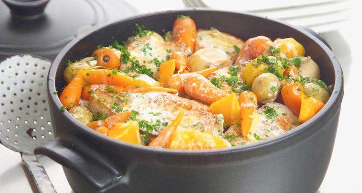 Pork Chops and Vegetables
