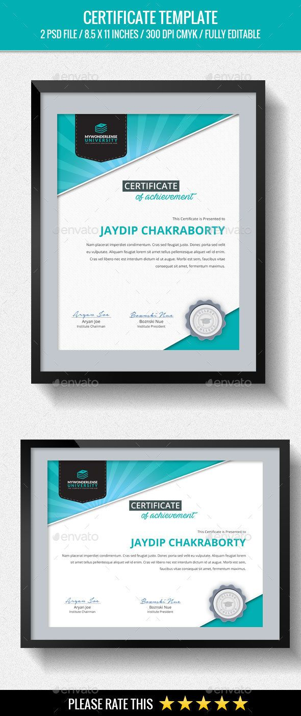 21 best modern certificate design images on pinterest multipurpose certificates yadclub Choice Image