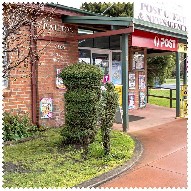 Topiary postie in Railton, 7305.  #AustraliaConnected, #Australia, #Tasmania, #Railton, #Topiary, #postcode7305, #PostOffice.