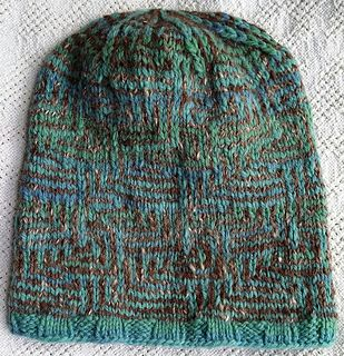 b1227caee7a Ravelry  Op illusion Boxes Hat pattern by Dory Ferguson