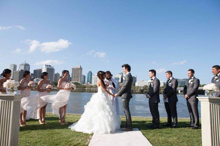 River Quay Green, South Bank - Brisbane. Photo by Milque Photography www.milque.com.au Brisbane Wedding Ceremony Locations & Venues