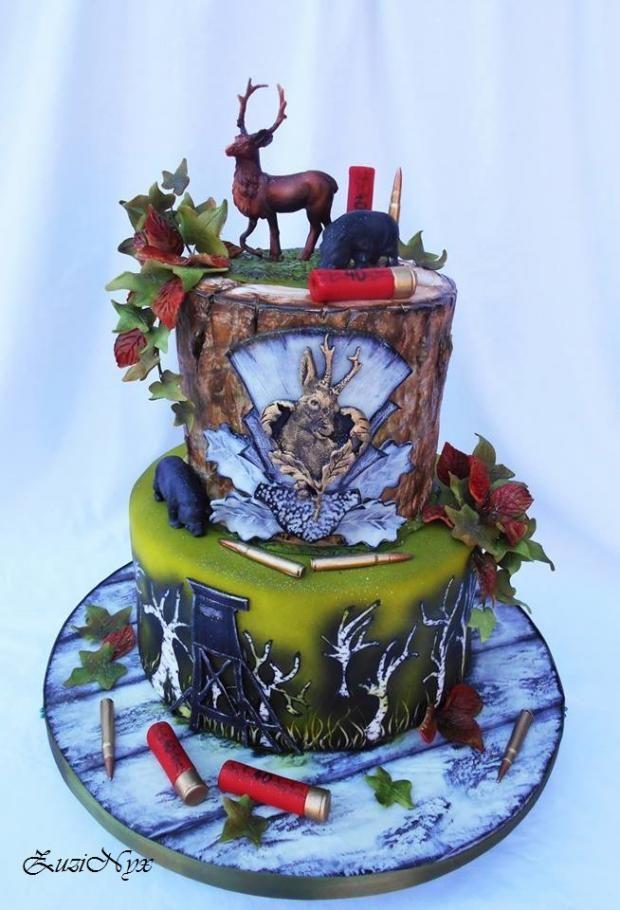 Luxusná a nádherná torta pre poľovníka. Autorka: ZuziNyx / Tortyodmamy.sk