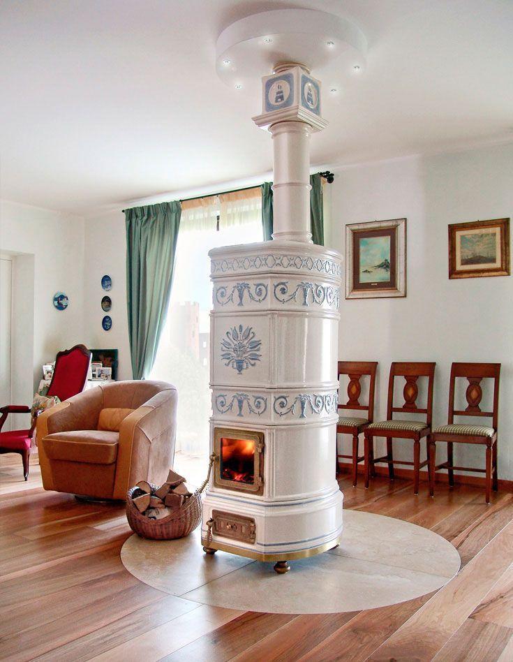 Wood heating stove / traditional / earthenware / ceramic OVALE LA CASTELLAMONTE Stufe di Ceramica
