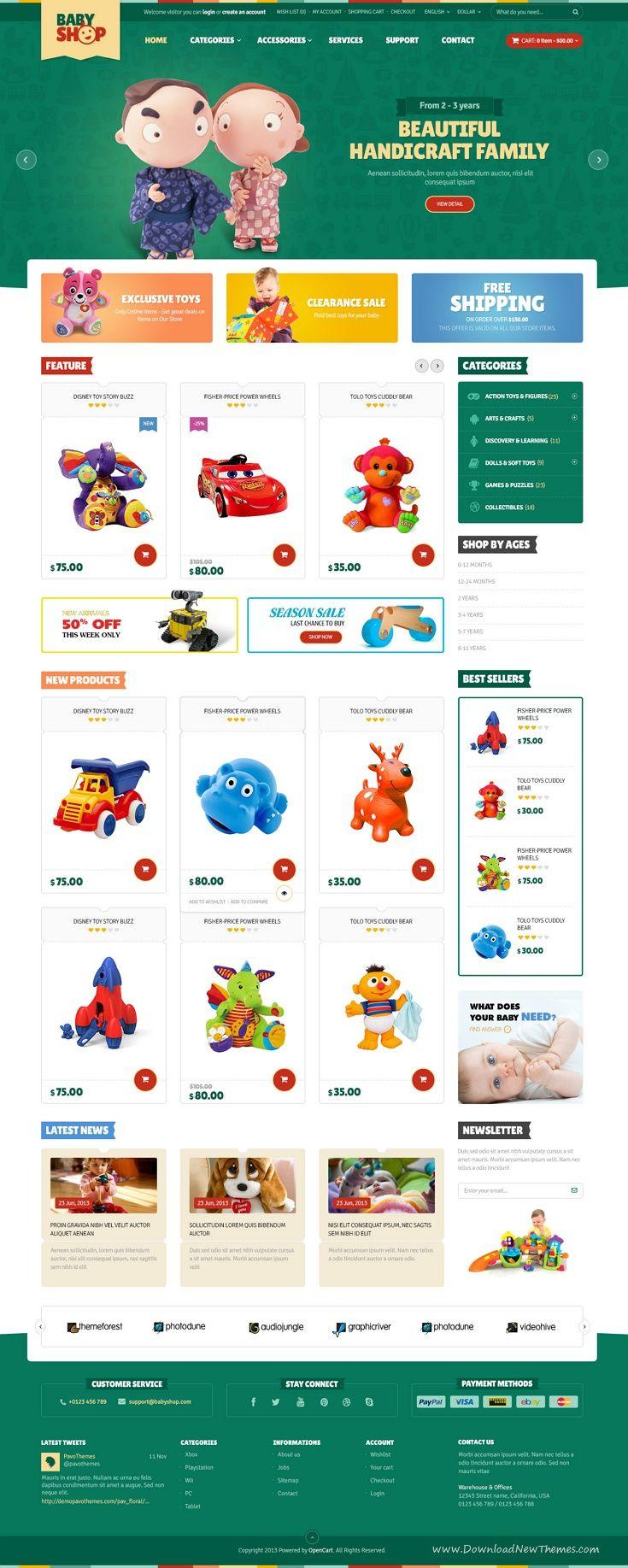 Baby Shopify Theme Shopify theme, Shopify website, Baby shop