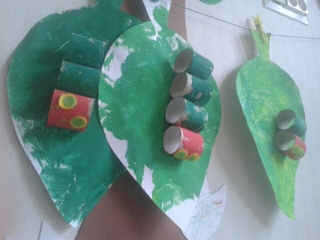 Lasten kanssa tehtyä / pikku toukka paksulainen /very hungry caterpillar