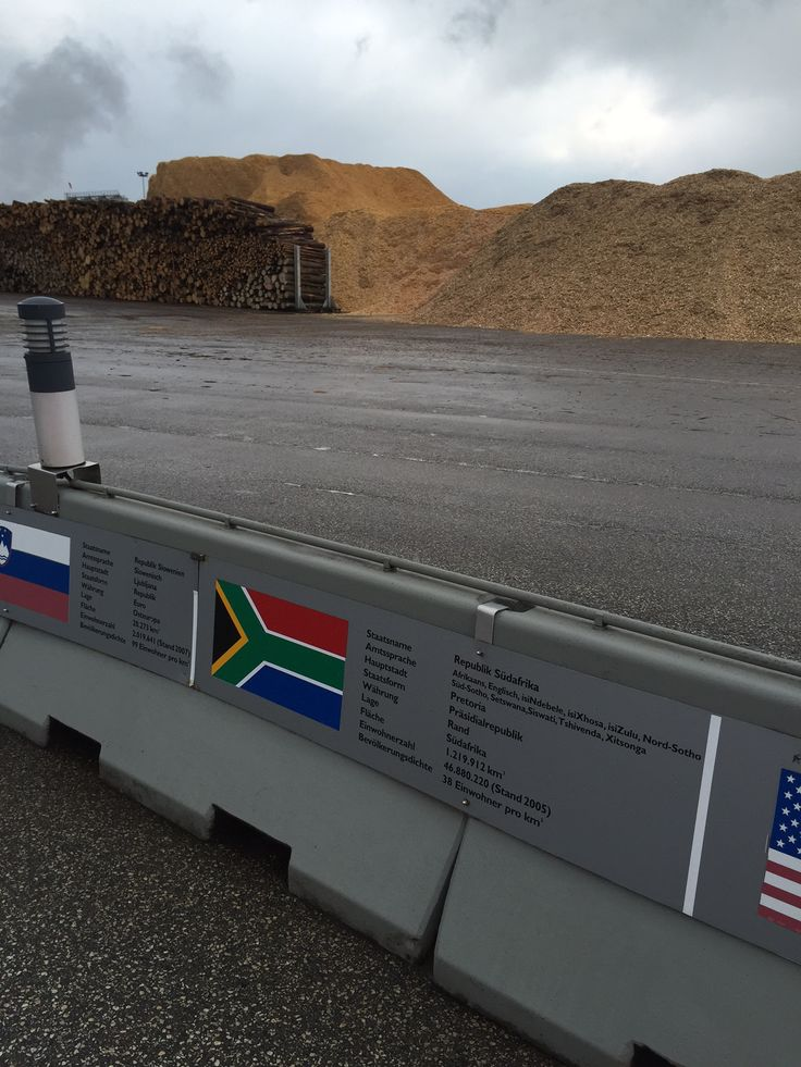 South African flag at the Egger factory in Wismar Germany