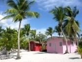 Small And Colored Homes On The Coast Of Santo Domingo, Dominican.
