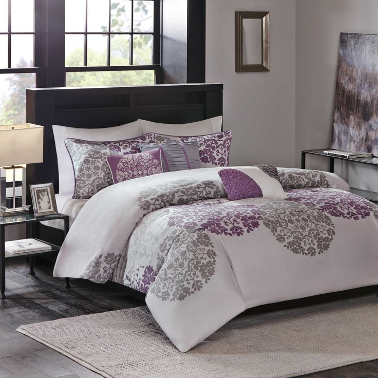 buy madison park sydney king duvet cover set in purple from at bed bath u0026 beyond update your bedroom in chic yet modern style with the