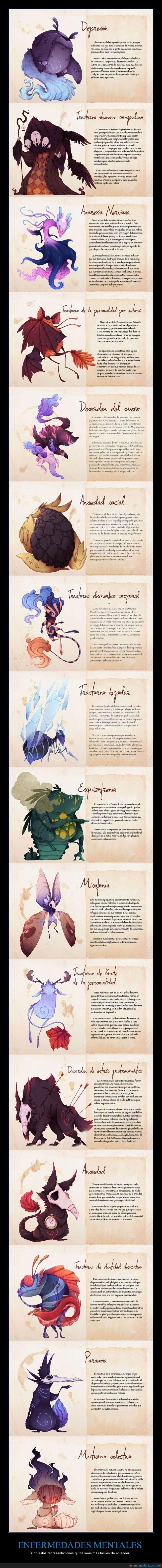 ENFERMEDADES MENTALES - Con estas representaciones quizá sean más fáciles de entender