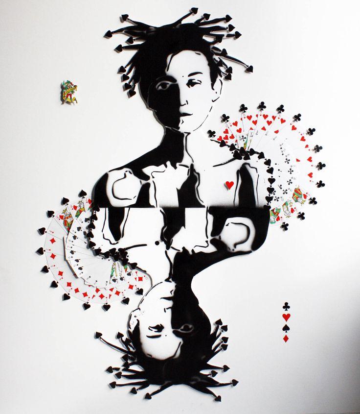 So Let's Play! by Ceyda Caba Kağıt üzerine Mürekkep, Kalem ve #Kolaj / Ink, Pen and #Collage on Paper 90cm x 100cmm  #gallerymak #sanat #resim #cizim #kadın #figuratif #tablo #sanatsal #ig_sanat #iskambil #sembol #sergi #ressam #cagdassanat #oyun #şans #contemporaryart #art #arte #kunst #instaart #artlovers #artcollectors
