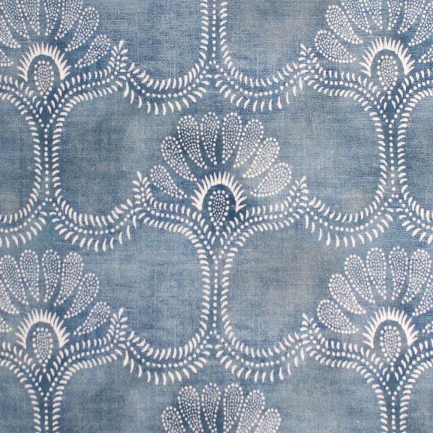 Nicholas Haslam Ltd. London Interior Design - Products / Fabrics / The Classics / Odessa in Blue