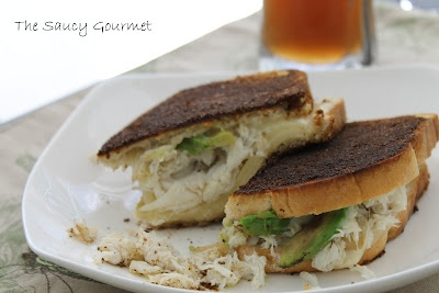 Crab and Avocado Grilled Cheese with Old Bay Seasoned Butter