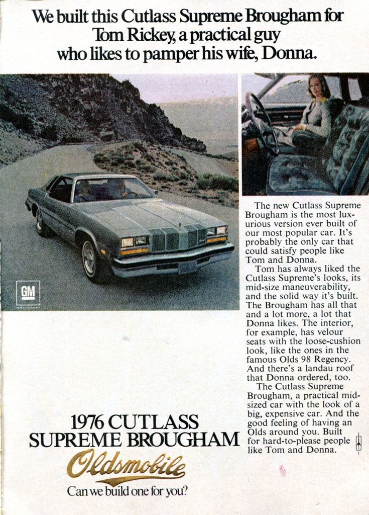 https://flic.kr/p/F3vNxA | 1976 Oldsmobile Cutlass Supreme Advertisement Readers Digest December 1975 | 1976 Oldsmobile Cutlass Supreme Advertisement Readers Digest December 1975