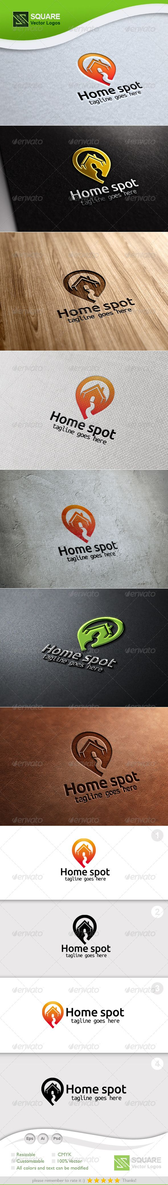 House, Locator Vector Logo Template #GraphicRiver File Description This is custom logo template. Illustrator (AI), Photoshop (PSD), Vector (EPS) logo files included in this download. You can customize to your own branding. All colors and text can be modified. It is suitable for place, locator, location, spot, builder, pin, map, symbol, apartment, latitude, media, gps, house, home, real estate, building related logos. FEATURES The Logo Is 100% Vector 100% Customizable Fully Layered Logo…