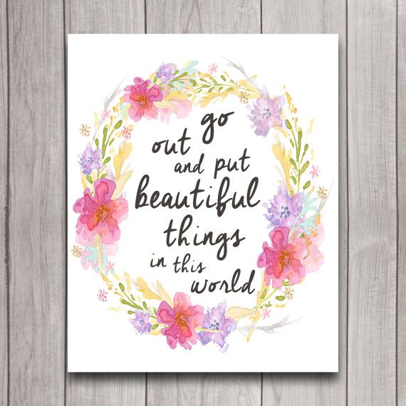 Inspirational Quote Nursery Wall Art Poster Instant
