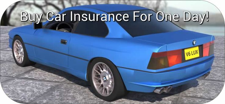One day car insurance for visitors or non residents