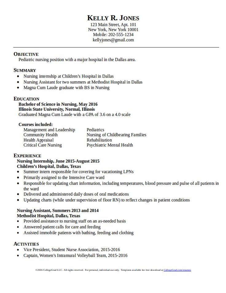Samples Of Resumes For Nurses. Nurses Resumes. Sample Rn Nursing