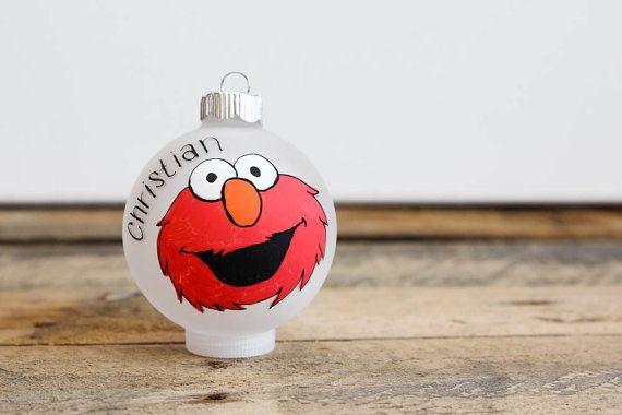 Sesame Street Elmo Christmas Ornament by KMStudioEtsy on Etsy
