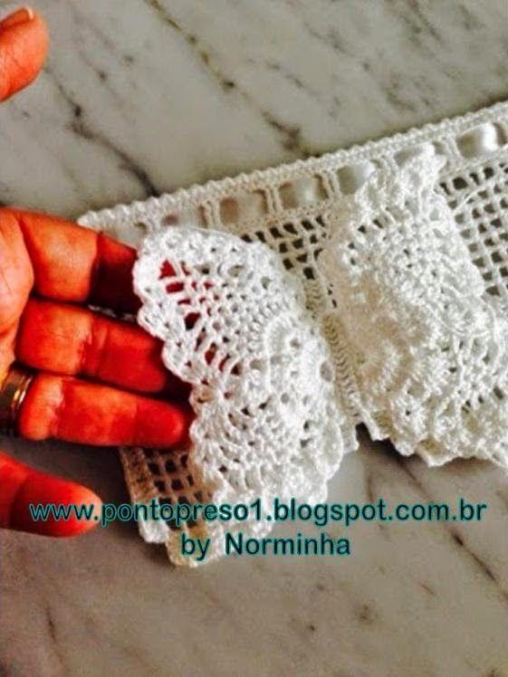 OFICINA DO BARRADO: Croche - Outras Borboletas em 3D ...                                                                                                                                                                                 Mais