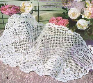 Croche maravilha de arte: Caminhos de mesa e toalhinha... com gráfico