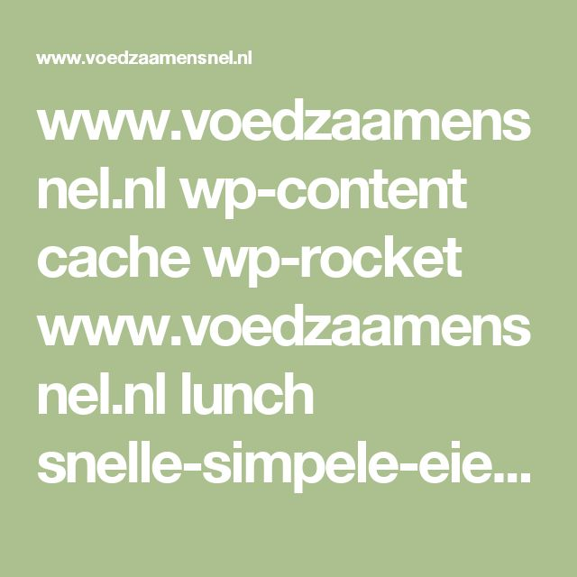 www.voedzaamensnel.nl wp-content cache wp-rocket www.voedzaamensnel.nl lunch snelle-simpele-eiersalade