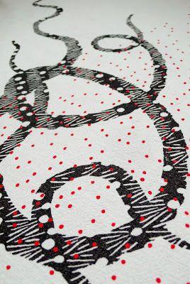 alice leblanc laroche, nouvelles pièces en vente à l'exposition annuelle des Petites Manufactures des Pépins du mardi 10 au dimanche 15 décembre à l'espace Beaurepaire - M° République de 11h à 20h; pieuvre; poi; motif;pattern;Rouge Manufacture;