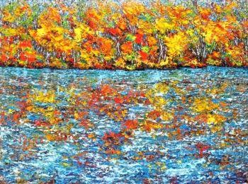 Sapphire Reflection, Ottawa River   The Ottawa Art Gallery / La Galerie d'art d'Ottawa - Margaret Chwialkowska