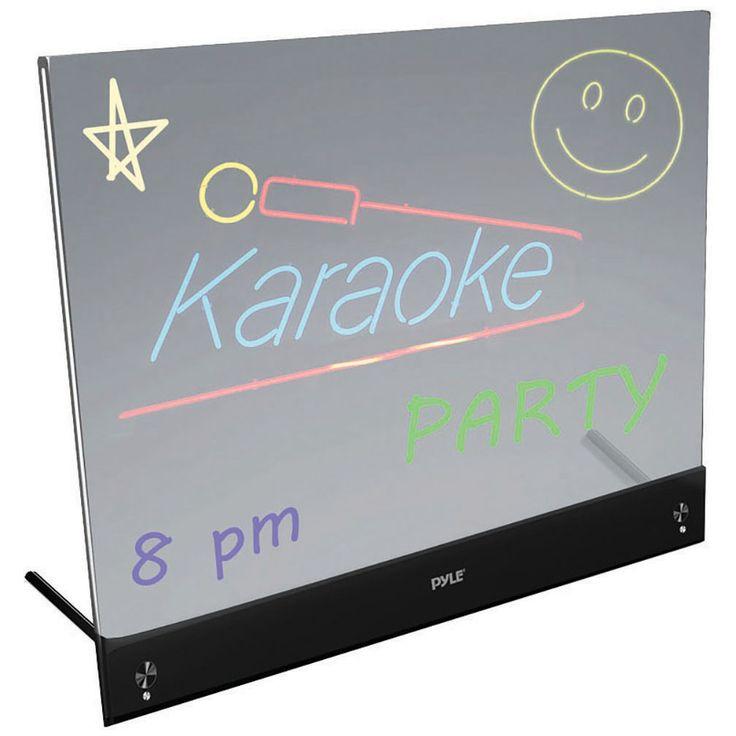 "Pyle 16""x12"" desktop LED writing board"