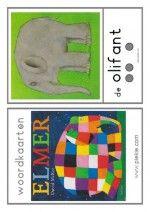 Woordkaarten Elmer - GROOT