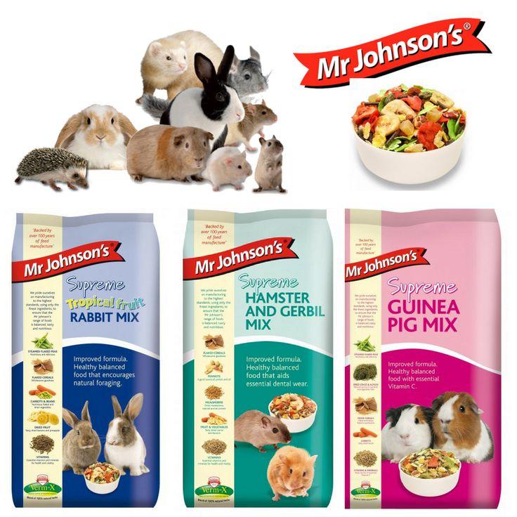 Alege sortimentul potrivit si micul tau prieten iti va multumi ! Putine sunt sortimentele de hrana pentru rozatoare, crescute ca animale de companie (hamsteri, cobai, iepuri, chinchille si veverite degu), care sa fie atat de bine acceptate, cum sunt cele din gama mr. Johnsons.  Un mix unic, foarte apetisant, de seminte, ierburi, fructe si legume deshidratate. o aroma si un miros care stimuleaza pofta de mancare a acestor companioni.