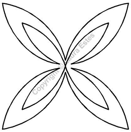 """Continuous Line Quilting Stencils > 5"""" - 6"""" Block C.L. - Item: 6"""" on QuiltingCreations.com"""