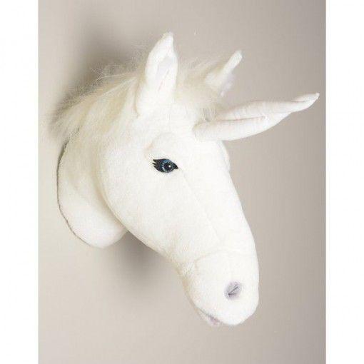 déco-murale-enfant-peluche-tête-de-licorne-blanche-bibib