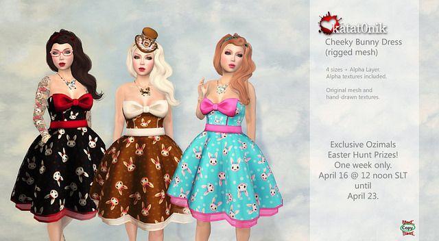 *katat0nik* Cheeky Bunny Dress @ Ozimals Easter Egg Hunt 2014   Flickr - Photo Sharing!