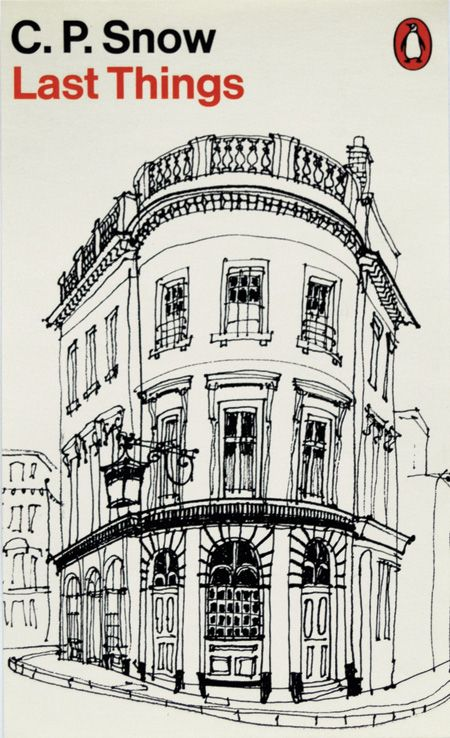 "David Gentleman: ""I didn't much enjoy reading the Snows and would stop as soon as I reached a passage suggesting a suitable building or landscape for a cover."" This was a pub ""somewhere in Pimlico""."