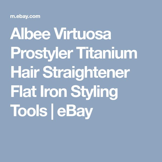 Albee Virtuosa Prostyler Titanium Hair Straightener Flat Iron Styling Tools | eBay