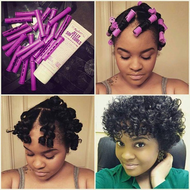 Roller set black hair the best black hair 2017 66 best hair rollers on natural images urmus Gallery
