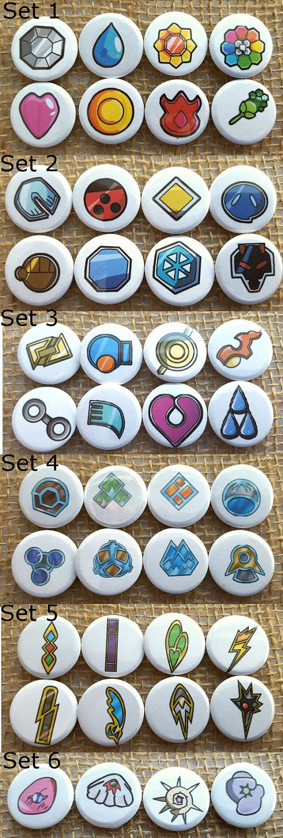 Pokemon Badge 1 Pinback Button Sets by NRamsey on Etsy