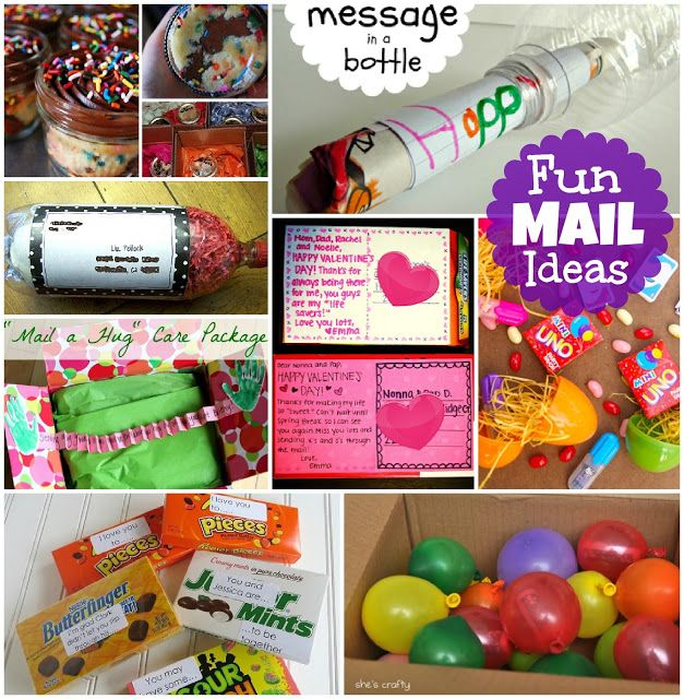 Since we live about 4 hours away from our family, I thought it would be fun if Connor started sending fun mail to his cousins. I found some cute ideas that I just had to share. I love the idea of sending fun little unexpected gifts in the mail. Mail Cupcakes in Mason Jars by …