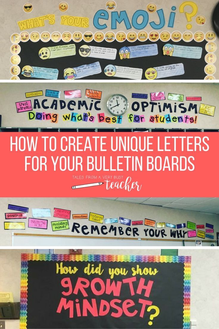 Elementary school teachers can learn how to create fun and unique letters for their classroom bulletin boards with this easy DIY how-to by Tales from a Very Busy Teacher.