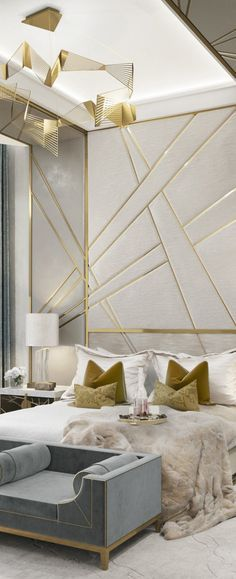 discover now the best luxury golden home decor inspiration for your interior design project at luxxu - Beaded Inset Hotel Decoration