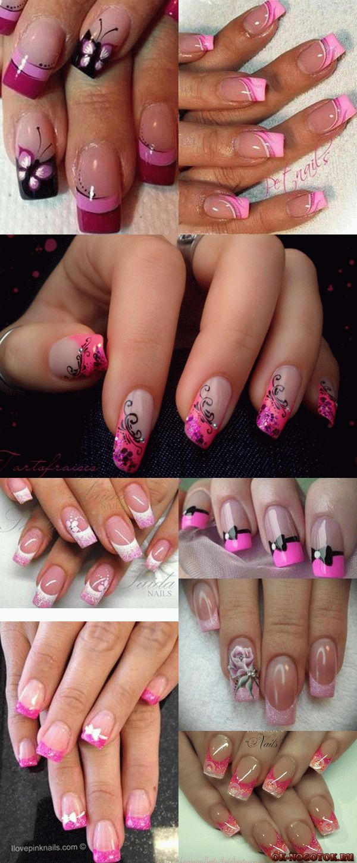розовый французский маникюр