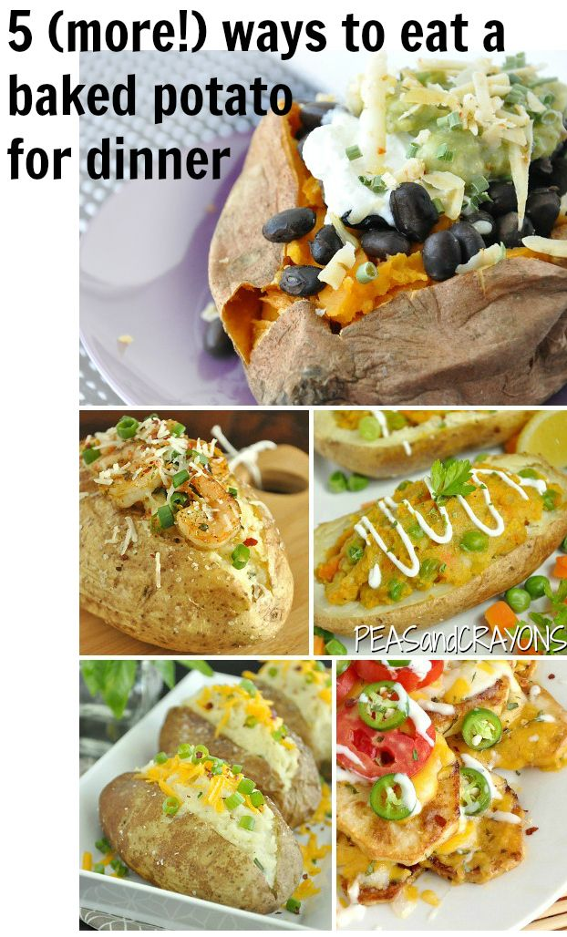 5 Ways to Eat a Baked Potato for Dinner. These are the best! Such a fast and healthy dinner option.