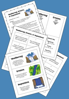 Free! Weathering, Erosion, or Deposition? Strategies for teaching students how landforms are created through weathering, erosion, and deposition. Includes free task cards for a cooperative learning sorting activity
