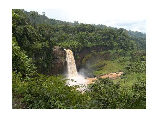Ekom Waterfall    The 1984 film Greystoke – The Legend of Tarzan starring Christopher Lambert was filmed in Cameroon and you can visit Ekom Falls which was featured in the film.