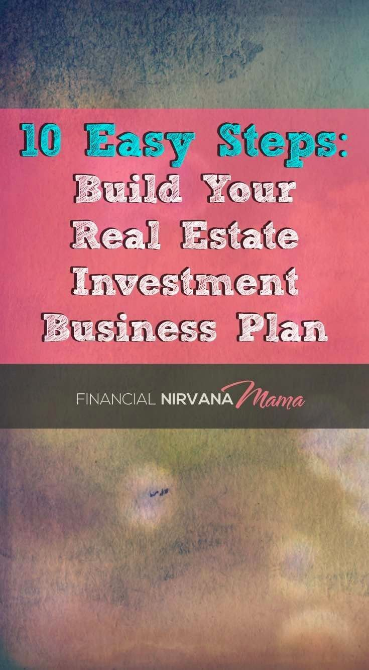 Real Estate investment Business Plan - Here are ten actionable steps in building your real estate investing business plan + lots of examples.  Take your real estate investing to the next level.